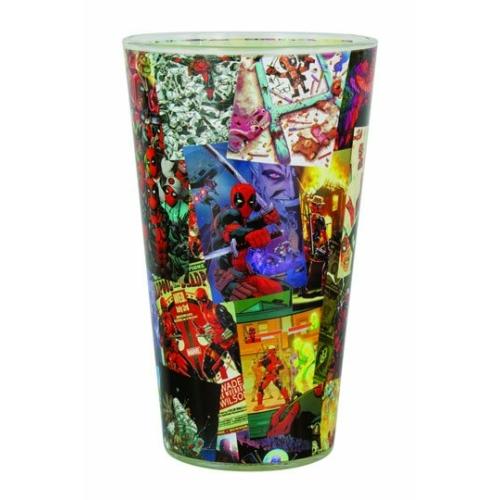 Deadpool Pint Glass Scenes nagyméretű pohár