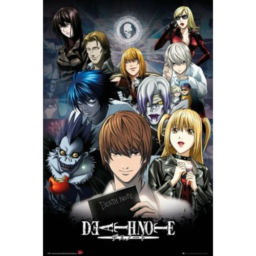 DEATH NOTE caharcters collage poszter FP3963