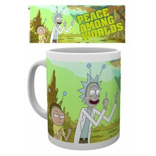 Rick and Morty peace bögre