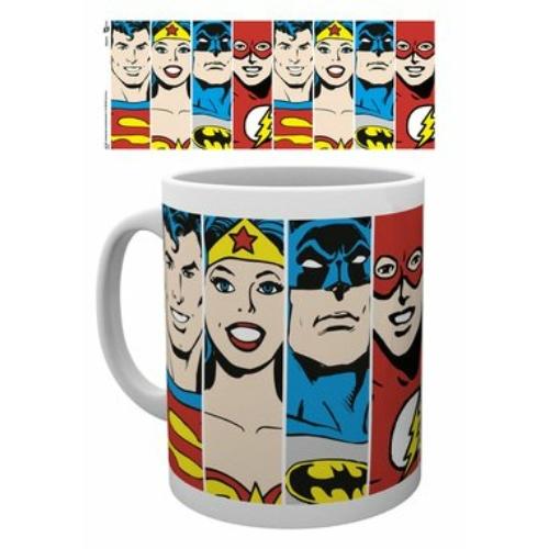DC Comics Heroes faces bögre 300 ml