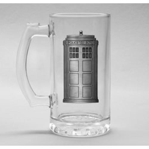 Doctor Who Police Box Tardis fém díszes üveg korsó