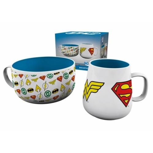DC Comics reggeliző készlet bögre és müzlis tál