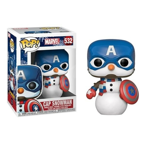 Marvel Comics Holiday Edition Cap Snowman Captain America POP figura