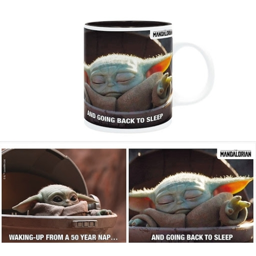 Star Wars The Mandalorian Baby Yoda Grogu sleep meme bögre 320 ml