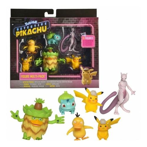 Pokemon Detective Pikachu 6 darabos figura szett