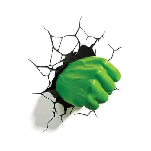 Marvel 3D LED Light Hulk ökle dekorációs lámpa 17 x 14 cm
