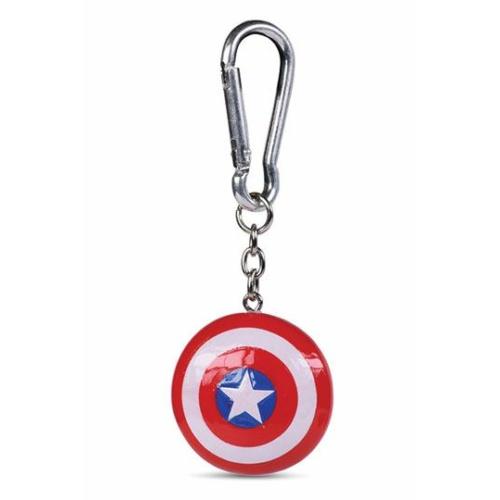 Marvel Amerika Kapitány 3D kulcstartó pajzsos 4 cm átmérőjű