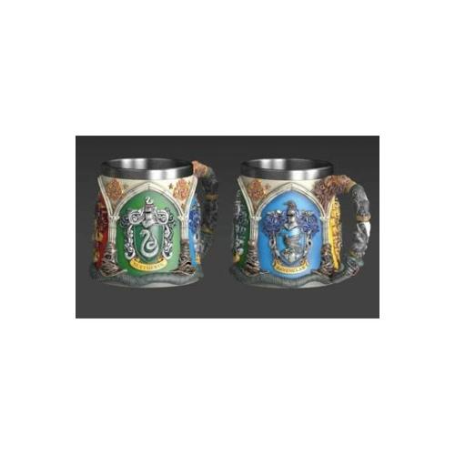 HARRY POTTER Hogwarts Houses Roxfort exkluzív magas minőségű műgyanta díszbögre / korsó 0.425 ml