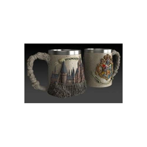 HARRY POTTER Hogwarts School Roxfort exkluzív magas minőségű műgyanta díszbögre / korsó 0.425 ml