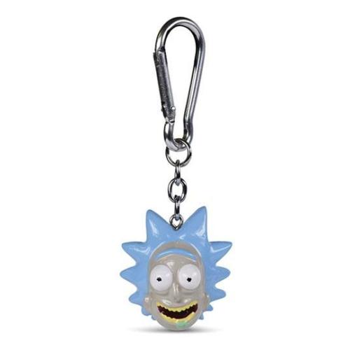 Rick and Morty 3D kulcstartó Rick fej 4 cm átmérőjű