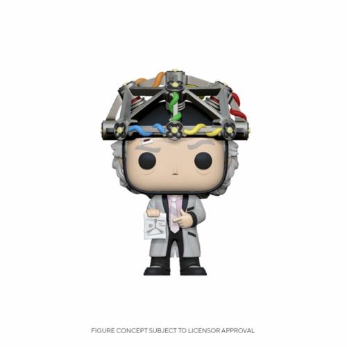 Back to the Future Vissza a Jövőbe POP! Doki Doc Brown w/Helmet 9 cm figura