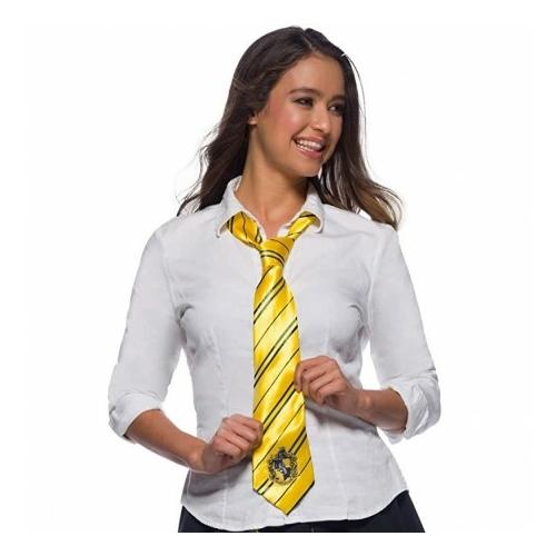 HARRY POTTER Hufflepuff Hugrabug ház kiváló minőségű szatén nyakkendő