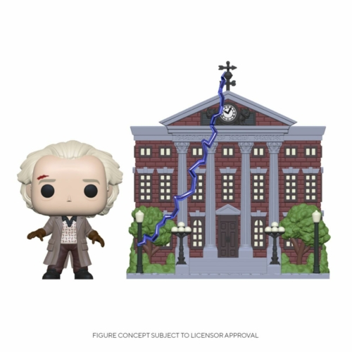 Vissza a Jövőbe Back to the Future POP! Town Doc with Clock Tower figura 9 cm