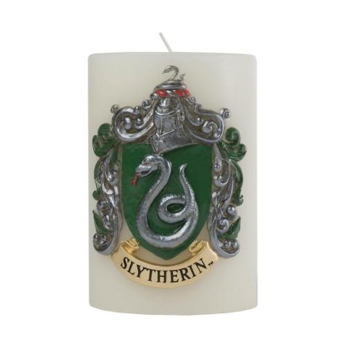 Harry Potter XL  Slytherin Mardekár díszítésű exkluzív díszgyertya 15 x 10 cm