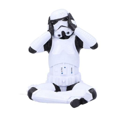 STAR WARS Original Stormtrooper Hear No Evil Stormtrooper műgyanta Rohamosztagos figura 10 cm