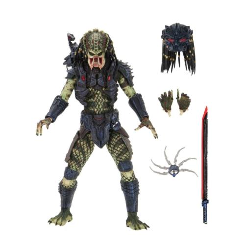 PREDATOR 2 NECA Ultimate Armored Lost Predator mozgatható figura cserélhető kezekkel,2db fejjel melyből az egyik piro led-el ellátva,kard,shuriken kiegészítőkkel 20 cm