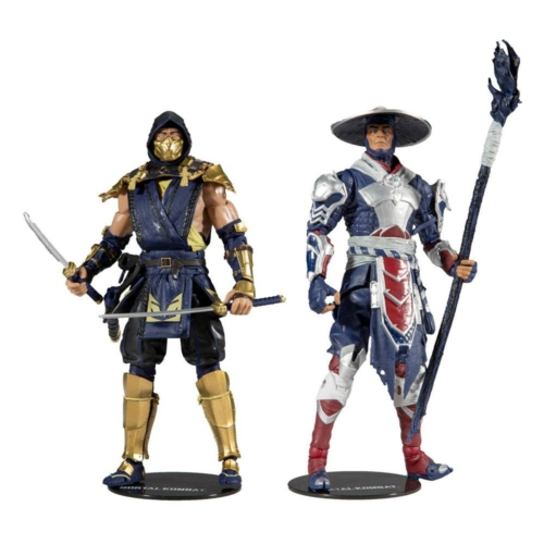 Mortal Kombat dupla figurakészlet Scorpion & Raiden mozgatható 18 cm