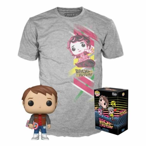 PoP! TEES Back to the Future POP! & Tee Box Marty Vissza a Jövőbe  Marty PoP figura és póló L
