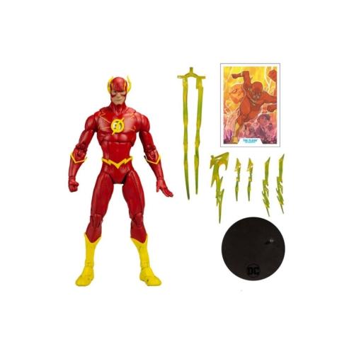 DC Multiverse mozgatható gyűjtői figura Modern Comic Flash 18 cm kiegészítőkkel,talpazattal,gyűjtői dobozban