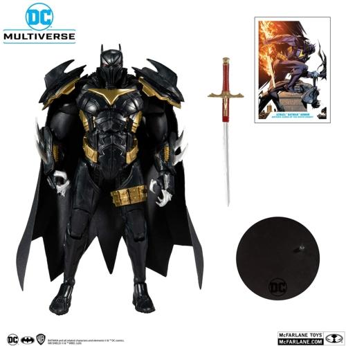 DC Multiverse mozgatható gyűjtői figura Modern Comic White Knight Azrael  / Azbat 18 cm kiegészítőkkel,talpazattal,gyűjtői dobozban