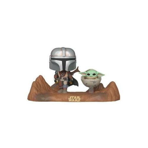 PoP! The Mandalorian 2-Pack Mando & Child Grogu figura 9 cm (390)