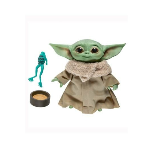 Star Wars The Mandalorian interaktív beszélő plüss Baby Yoda The Child Grogu figura 20 cm