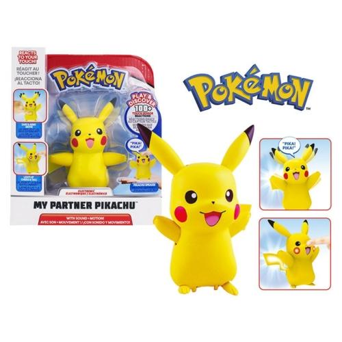 POKEMON My Partner PIKACHU interaktív hangot adó és mozgó Pikachu figura 12 cm