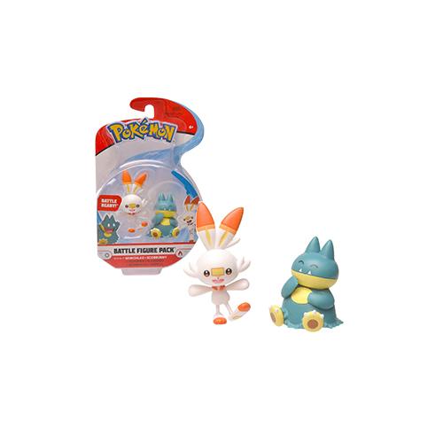 Pokemon Battle figure pack Munchlax Scorbunny figura 4-5 cm