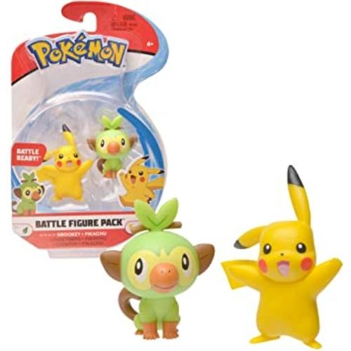 Pokemon Battle figure pack Grookey Pikachu figura 4-5 cm