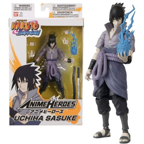 Naruto Shippuden Anime heroes Uchiha Sasuke mozgatható figura 17 cm