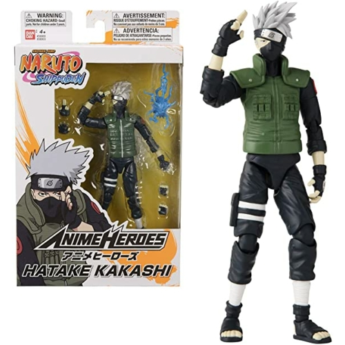 Naruto Shippuden Anime heroes Hatake Kakashi mozgatható figura 17 cm