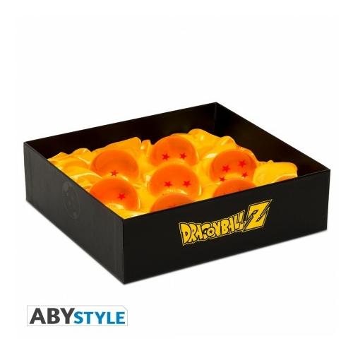 DRAGON BALL gyűjtői Sárkánygömb replika díszdoboz Collector box 7db Sárkánygömböt tartalmaz