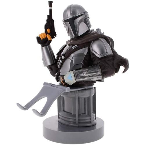 Star Wars The Mandalorian Mando Fejvadász telefon és konzol kontroller tartó figura töltéshez 20 cm