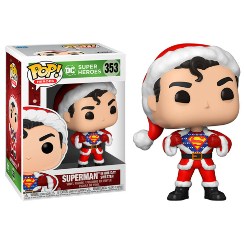 POP! DC Comics Heroes Holiday:Superman in Holiday Sweater figura 9 cm
