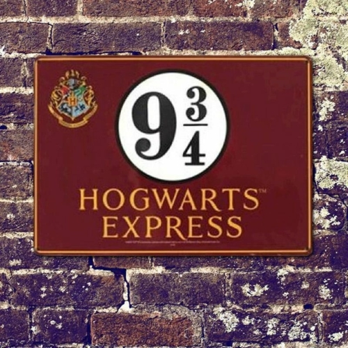 Harry Potter fém jelzőtábla Platform 9 3/4 21 x 15 cm