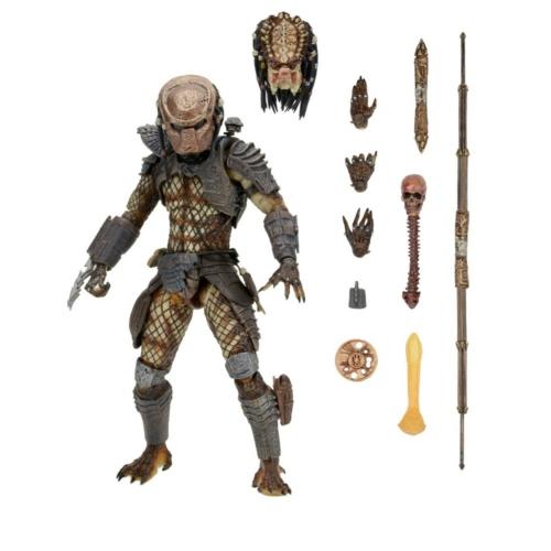 PREDATOR 2 City Hunter figura - Ultimate NECA díszdobozos kiadás, cserélhető fejjel, fegyverekkel és trófeával 18-20 cm