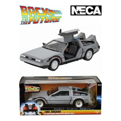 BACK TO THE FUTURE - Vissza a Jövőbe Diecast  Delorean Model Time Machine 15 cm