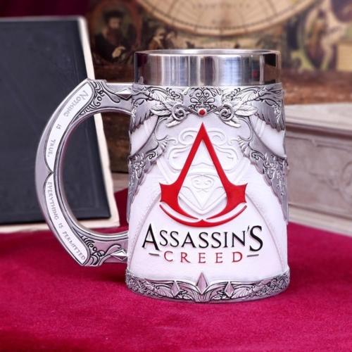 ASSASSIN'S CREED kézzel festett fém/műgyanta Prémium minőségű díszkorsó 0.5 L