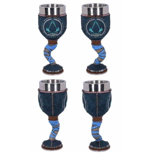 Assassin's Creed Valhalla Goblet fém/műgyanta kézzel festett prémium minőségű díszserleg kupa pohár  0.25 L