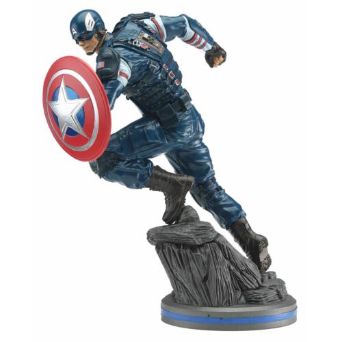 MARVEL Avengers A Bosszúállók 2020 Video Game PVC 1/10 Captain America szobor 22 cm