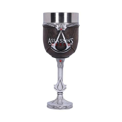 ASSASSIN'S CREED Brotherhood Goblet fém/műgyanta kézzel festett prémium minőségű díszserleg pohár  0.25L Brotherhood leather kupa