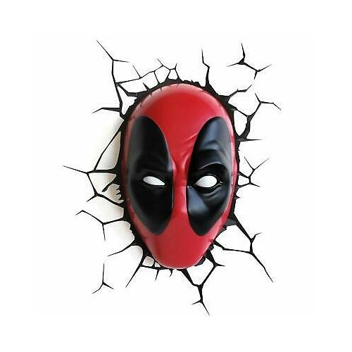 Marvel Deadpool 3D dekor hangulat lámpa
