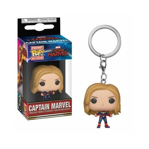 MARVEL Comics PoP! Captain Marvel Pocket kulcstartó figura Captain Marvel 4 cm