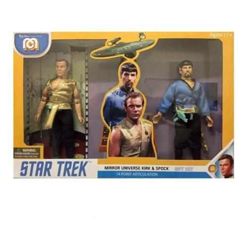 Star Trek 2-Pack Mirror Universe Spock & Kirk szövetruhás,mozgatható akció figura készlet 20 cm
