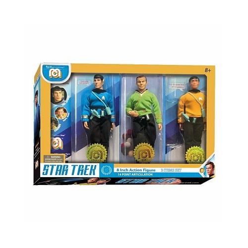 Star Trek 3-Pack Spock, Kirk & Chekov szövetruhás, mozgatható akció figura készlet 20 cm