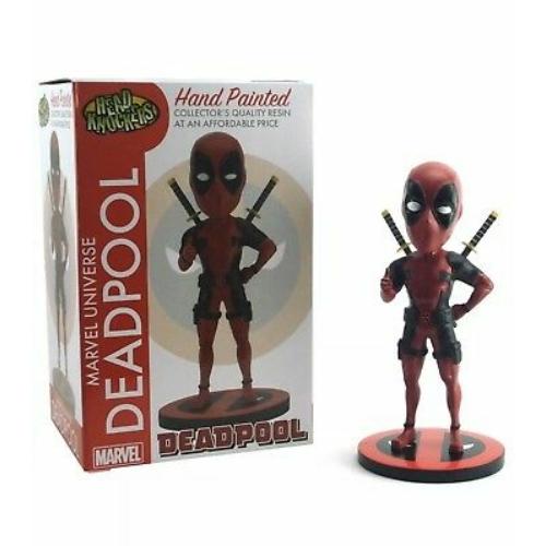 MARVEL Comics Head Knocker Bobble-Head NECA Deadpool Classic kézzel festett,élethű bólogató figura szobor 20 cm