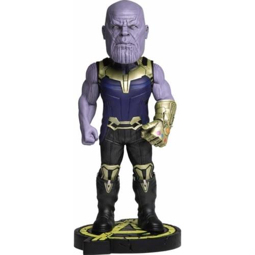 MARVEL Avengers Infinity War Head Knocker Bobble-Head NECA Thanos kézzel festett,élethű bólogató figura szobor 20 cm