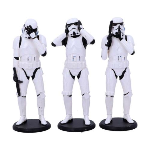 STAR WARS Original Stormtrooper Figures 3-Pack Three Wise Stormtroopers 3 db-os kézzel festett Rohamosztagos figura szett 14 cm