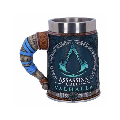 ASSASSIN'S CREED Valhalla kézzel festett fém/műgyanta Prémium minőségű díszkorsó 0.5 L