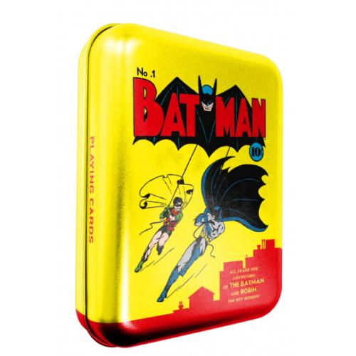 DC Comics Batman és Robin Vintage francia kártya fém tokban